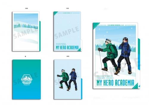 グッズ クリアファイル 僕のヒーローアカデミア 雪山登山 3ポケットクリアファイル 緑谷出久 轟 焦凍 アニメイト