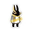 【グッズ-シール】とーとつにエジプト神 刺繍シール/アヌビスの画像