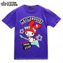 【グッズ-Tシャツ】サンリオ×LISTEN FLAVOR マイメロディのロックスターTシャツ VIOLETPURPLE-Mの画像