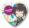 【グッズ-バッチ】アイドルマスター SideM SideMini ハート缶バッジ グローリーモノクローム 東雲荘一郎の画像