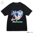 【グッズ-Tシャツ】うる星やつら×LISTEN FLAVOR  コズミックラムちゃんBIG Tシャツ ブラックの画像