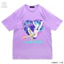 【グッズ-Tシャツ】うる星やつら×LISTEN FLAVOR  コズミックラムちゃんBIG Tシャツ ラベンダーの画像