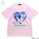 【グッズ-Tシャツ】うる星やつら×LISTEN FLAVOR  コズミックラムちゃんBIG Tシャツ ベビーピンクの画像
