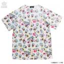 【グッズ-Tシャツ】うる星やつら×LISTEN FLAVOR  テンちゃん総柄カットソー ホワイトの画像