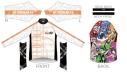 【サイクルウェア】戦姫絶唱シンフォギアXV サイクルウィンドブレーカー 3XLサイズ【アウローラ】の画像