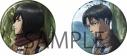 【グッズ-バッチ】進撃の巨人 缶バッジセット/ミカサ&リヴァイの画像
