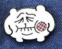 【グッズ-ピンバッチ】ちみたん ピンバヂ 虫歯の画像