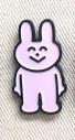 【グッズ-ピンバッチ】うさぎとくま ピンズ (うさぎ)の画像