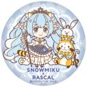 【グッズ-バッチ】雪ミク2019×ラスカル ぷにぷに缶バッジ (A)の画像
