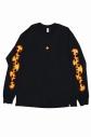 【グッズ-Tシャツ】炎炎ノ消防隊×GYFT ファイヤーパターン L/S TEE (L)の画像