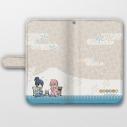 【グッズ-カバーホルダー】ゆるキャン△ 手帳型スマホケース(なでしこ&リン/着物)汎用Lサイズの画像