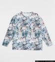 【グッズ-Tシャツ】ガンダム×ハローキティ 吹き出し総柄ガンダム名シーン集 ロンT Multi1 XLの画像