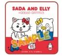【グッズ-タオル】銀魂×Sanrio characters SADA AND ELLY×ハローキティ ハンドタオルの画像