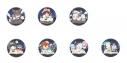 【グッズ-バッチ】文豪ストレイドッグス ふぉーちゅん☆缶バッジ ポートマフィアVer.【アニメイト先行販売】の画像