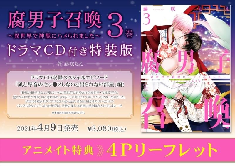 【コミック】腐男子召喚~異世界で神獣にハメられました~(3) ドラマCD付き特装版