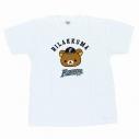 【グッズ-Tシャツ】リラックマ×北海道日本ハムファイターズ Tシャツ 白 Sの画像