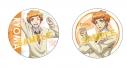 【グッズ-バッチ】美男高校地球防衛部LOVE! HAPPY KISS! 缶バッジセット/霧島(きゃらびぃ&ティザー)の画像