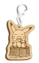 【グッズ-キーホルダー】ポケットモンスター セピアグラフィティ木製キーホルダー ランチタイムの画像