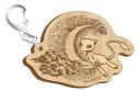【グッズ-キーホルダー】ポケットモンスター セピアグラフィティ木製キーホルダー オーバーザムーンの画像