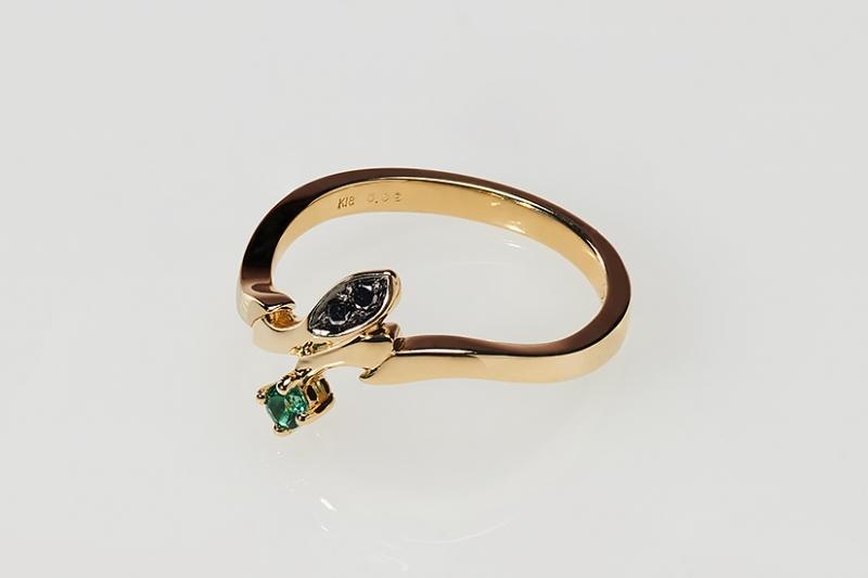 【グッズ-指輪】BANANA FISH Statue and ring style アッシュ・リンクス【gold ring~Only one rose~】 7号