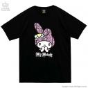 【グッズ-Tシャツ】サンリオ×LISTEN FLAVOR ときめきマイメロディTシャツ 01.BLACKの画像