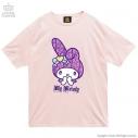 【グッズ-Tシャツ】サンリオ×LISTEN FLAVOR ときめきマイメロディTシャツ 02.BABYPINKの画像