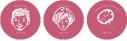 【グッズ-バッチ】カナタ10周年記念公演 あぶな絵、あぶり声~祭~ 缶バッジ 岩田光央・蒼井翔太・カナタ祭イラストの画像