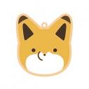 【グッズ-ストラップ】特価 タヌキとキツネ アイシングクッキー風 ラバーストラップ(キツネ)の画像