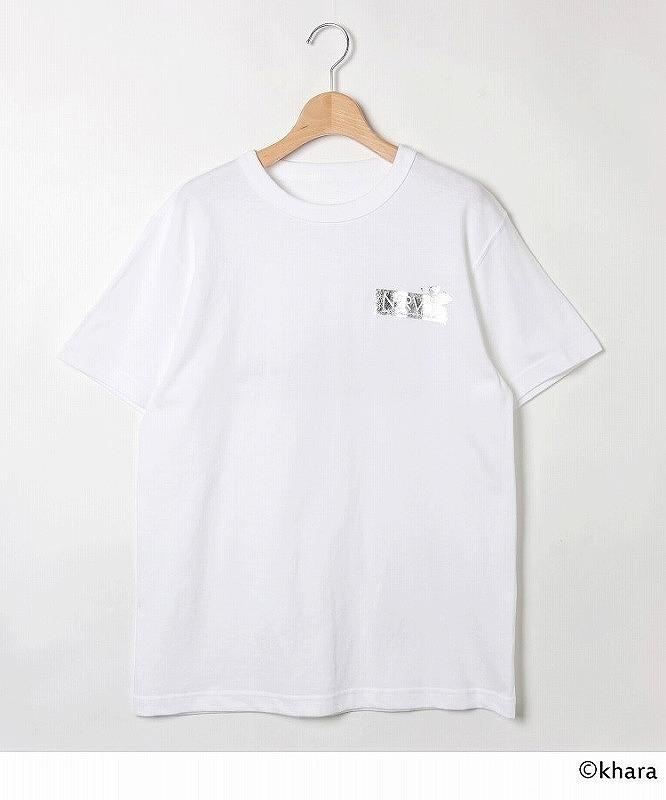 【グッズ-Tシャツ】エヴァンゲリオン NERVプリントTシャツ<レディース> 【PLATINUM AURA】