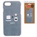 【グッズ-カバーホルダー】名探偵コナン デニムiPhone8ケース(モチーフ柄 キッド)の画像