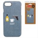 【グッズ-カバーホルダー】名探偵コナン デニムiPhone8ケース(モチーフ柄 安室)の画像