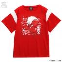 【グッズ-Tシャツ】犬夜叉×LISTEN FLAVOR 犬夜叉切り替えカットソー 03.REDの画像