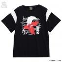 【グッズ-Tシャツ】犬夜叉×LISTEN FLAVOR 犬夜叉切り替えカットソー 02.BLACKの画像