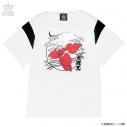 【グッズ-Tシャツ】犬夜叉×LISTEN FLAVOR 犬夜叉切り替えカットソー 01.WHITEの画像
