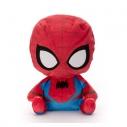 【グッズ-ぬいぐるみ】MARVEL【クロスバディーズ】 マスクつきぬいぐるみ Sサイズ ピーター・パーカー(スパイダーマン)の画像