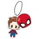 【グッズ-キーホルダー】MARVEL【クロスバディーズ】 ちらっとフェイスキーホルダー ピーター・パーカー(スパイダーマン)の画像