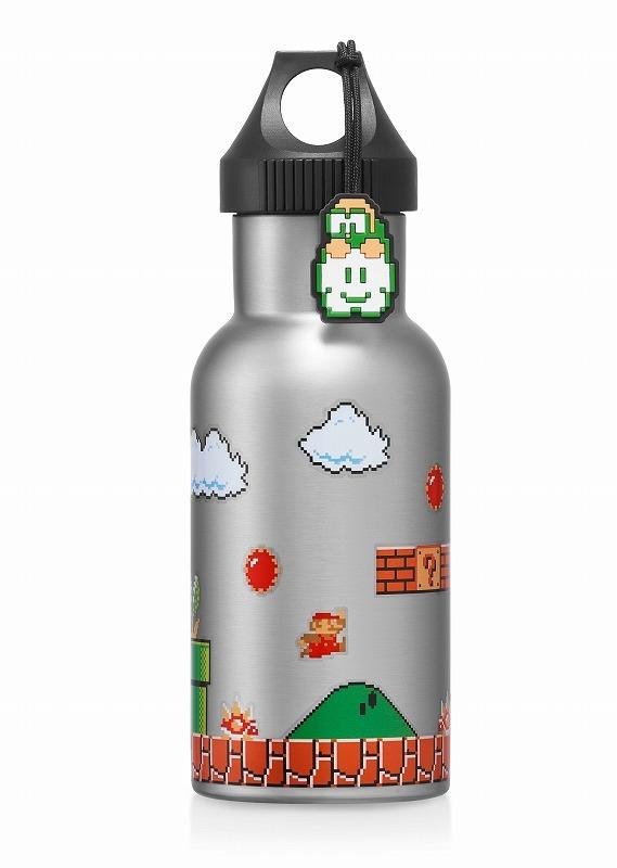 【グッズ-タンブラー・グラス】スーパーマリオ トラベル ステンレスボトル(地上コース)