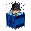【グッズ-クッション】名探偵コナン キャラ箱クッションVol.6 キッド追跡コレクション 怪盗キッド(変装前)の画像