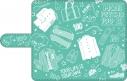 【グッズ-カバーホルダー】モブサイコ100 Ⅱ 手帳型スマートフォンケース<スケッチアートシリーズ>の画像