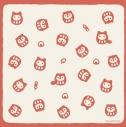 【グッズ-タオル】タヌキとキツネ ガーゼタオル だるまの画像