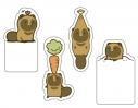 【グッズ-メモ帳】タヌキとキツネ ひょっこりふせん タヌキがひょっこり編の画像