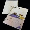 【グッズ-ノート】タヌキとキツネ リングノート ぶどうの画像