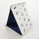 【グッズ-ミラー】タヌキとキツネ 折りたたみミラー(シンプルスタイル)の画像
