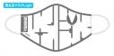 【サイクルウェア】究極!ニパ子ちゃん 洗えるマスクLight Mサイズ プラモランナーVer.【アウローラ】の画像