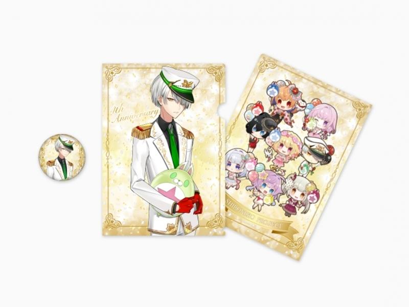 【グッズ-セットもの】特価 白猫プロジェクト 4th Anniversary クリアファイル&缶バッジセット(ジュダ)
