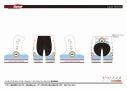 【サイクルウェア】ヤマノススメ サードシーズン サイクルパンツ アイコン Lサイズ【GSR Gear】の画像