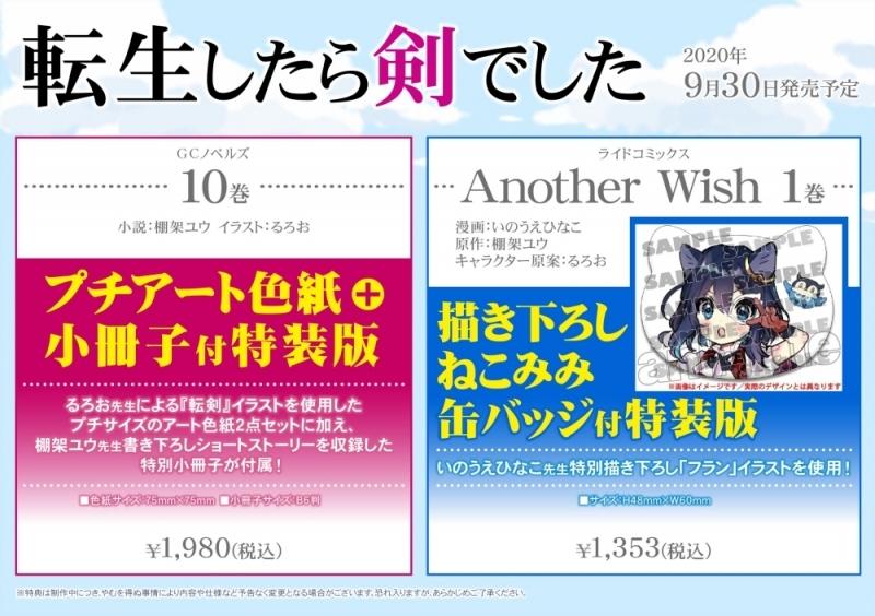 【小説】転生したら剣でした(10) プチアート色紙+小冊子付き特装版