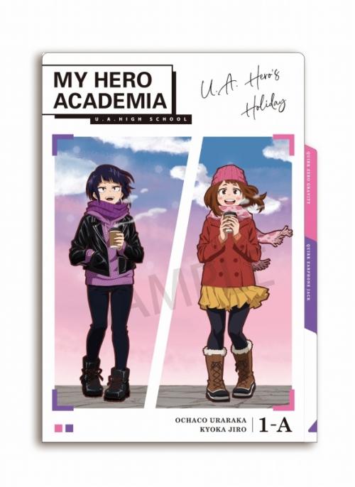 グッズ クリアファイル 僕のヒーローアカデミア 休日 3ポケットクリアファイル 麗日 耳郎 アニメイト限定 アニメイト
