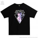【グッズ-Tシャツ】マギアレコード 魔法少女まどか☆マギカ外伝×LISTEN FLAVOR MAGIA RECORD BIG Tシャツ 01.BLACKの画像