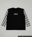 【グッズ-Tシャツ】R4G×ペルソナ5 Fukidashi Checker Sleeve T 柄BLK Lサイズの画像